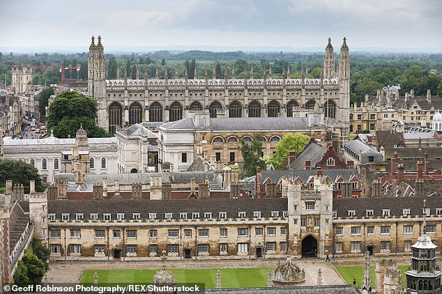 The top universities, (pictured, King's College Chapel, University of Cambridge) plan to start online interviews in December and are reportedly planning to show leniency to high-achieving pupils at schools with high infection rates.