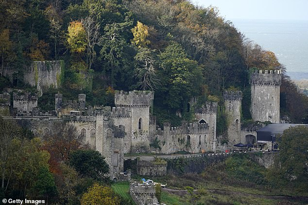 "Gwyrch Castle where the ITV reality show ""I'm a celebrity, get me out of here"" is filmed in Abergele, Wales"