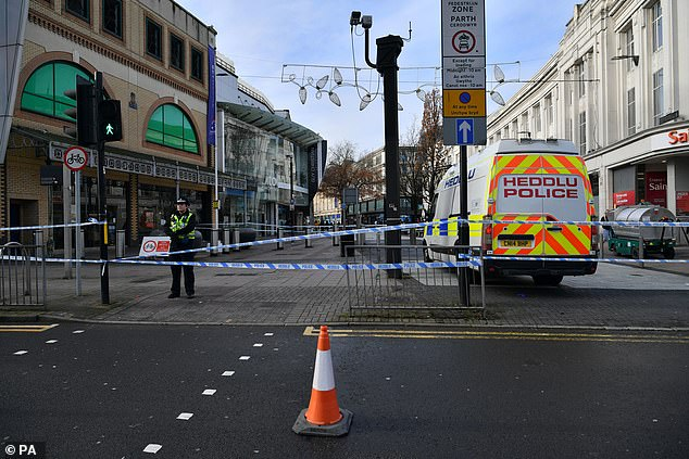 Police presence Cardiff city centre after six people were taken to hospital following violent disorder on Saturday night
