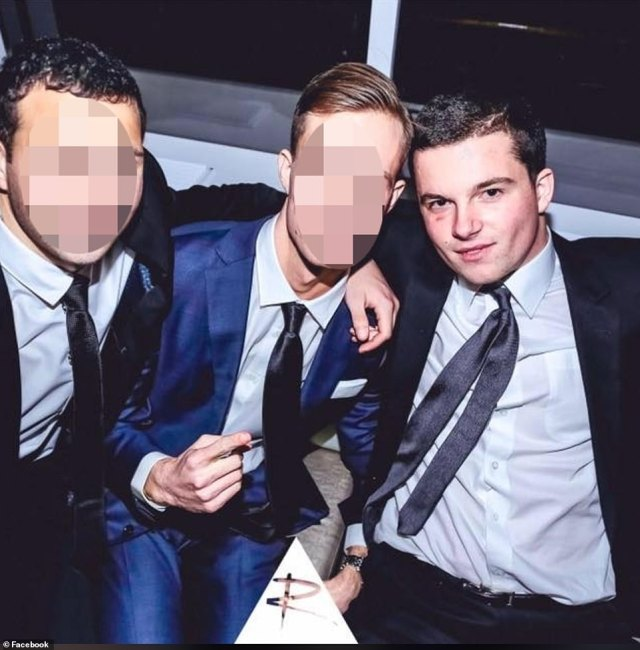 Palmer allegedly attacked Hugo (pictured right) after she had been drinking and he arrived home past his curfew from a night out and said he had 'committed a murder'