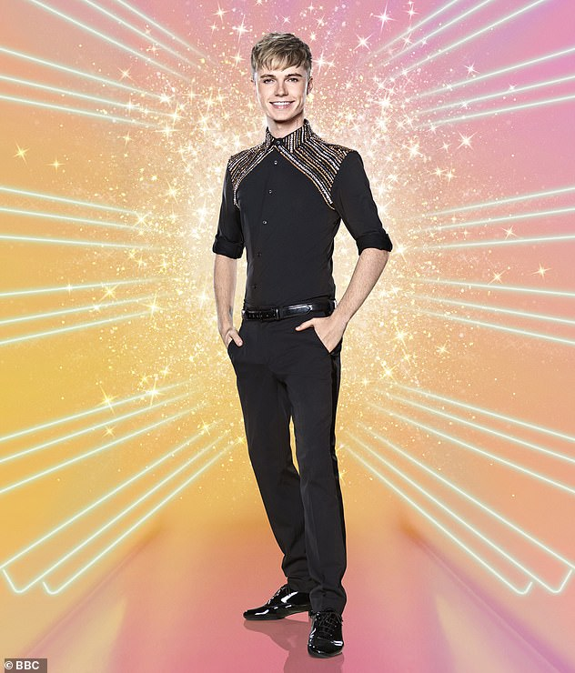 Looking for love: HRVY recently revealed that he wants to take Maisie 'out for dinner' when Strictly Come Dancing comes to an end, as he is currently focused on 'getting to the final'