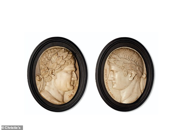 Two carved marble portrai reliefs dating back to the 19th Century are worth more than $6,000
