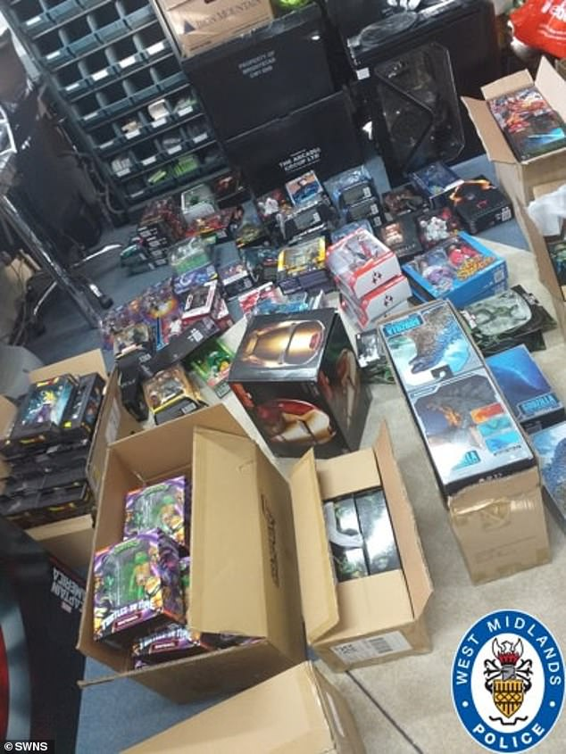 West Midlands Police officers discovered an enormous stash of toys, collectible figures and old comics at two lockups in the Black Country and Yorkshire