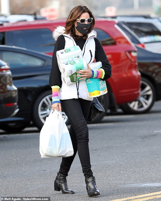 Grocery run: Real Housewife Luann de Lesseps, 55, hit up a Hamptons grocery store over the weekend to stock up on necessary provisions after it was confirmed she was dating local Hamptons trainer Garth Wakeford