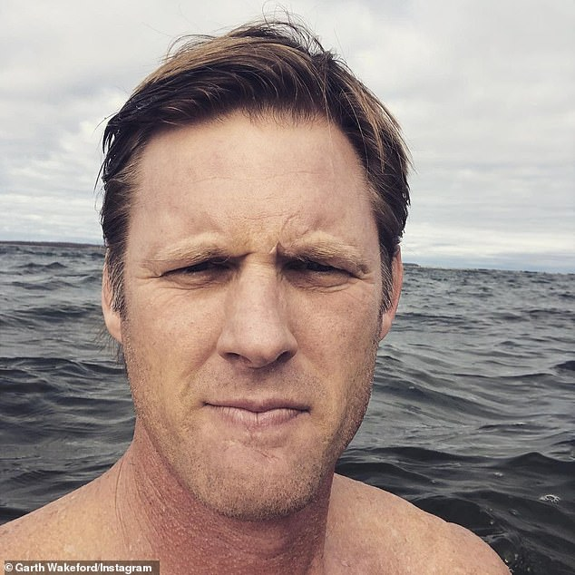 Hunky: The reality star marveled at his strapping nature as she said he looked 'like a Viking'
