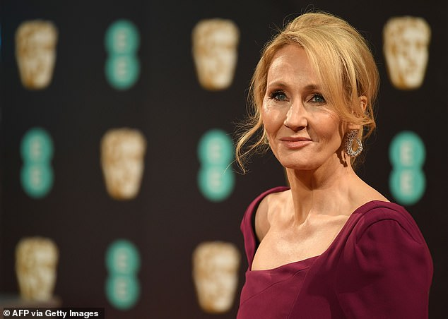 Rowling, 55, has drawn derision for comments which critics describe as insensitive at best and 'transphobic' at worst. A self-described feminist, Rowling has always asserted that she is not transphobic. Pictured: Rowling attends the 2017 BAFTA awards in London