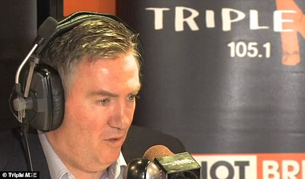 Fond farewell:Eddie announced this month on Triple M Melbourne's The Hot Breakfast that the show would broadcast its last episode on Friday 27 November