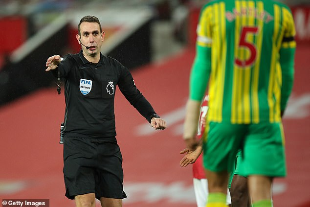 David Coote for overturning his decision to award West Brom a penalty against Man United