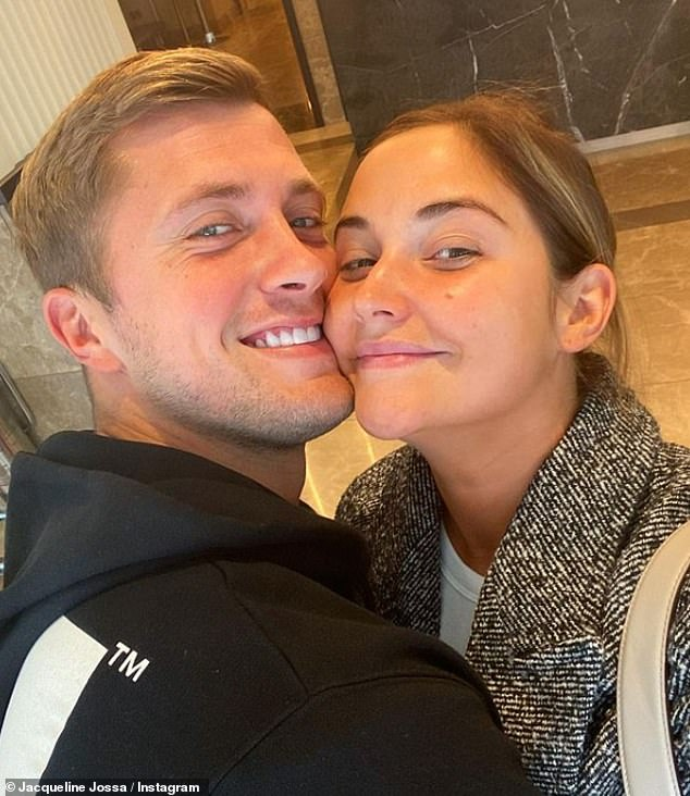 Hashing it out: Jacqueline Jossa has revealed she went to a therapist during the lockdown earlier this year, amid her marital woes with husband Dan Osborne