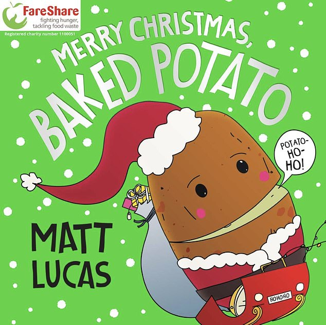 Double dose of goodness:Matt admitted that, in addition to raising much needed funds for the charity, he hopes to put a smile on faces as he enthused: 'Santa Baked Potato's on his way!'