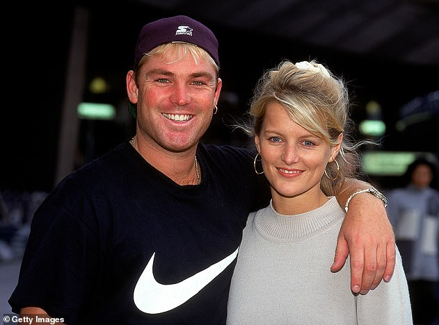 Former spouses: Shane shares Brooke, Jackson and Summer with his ex-wife, Simone Callahan. Pictured together inFebruary 1995 inMelbourne