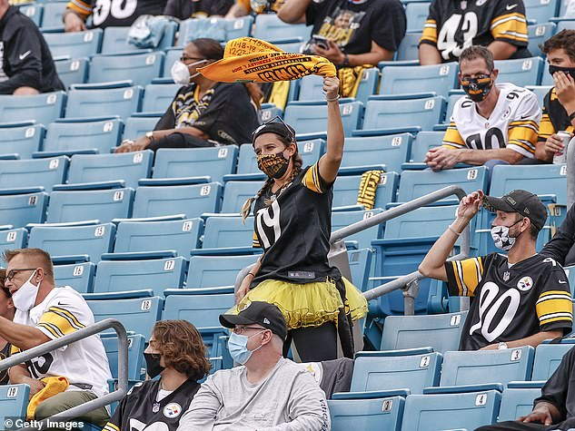 A fan of the Pittsburgh Steelers during their NFL match with Jacksonville Jaguars on Sunday