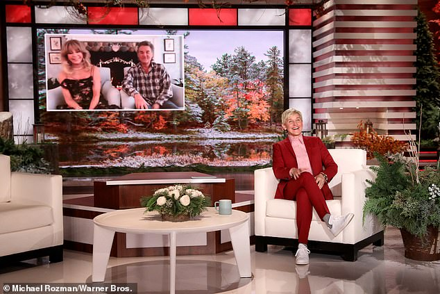 Remote interview: Kurt and Goldie connected via Zoom with host Ellen DeGeneres who is back doing her chat show from the Warner Bros. studio in Hollywood