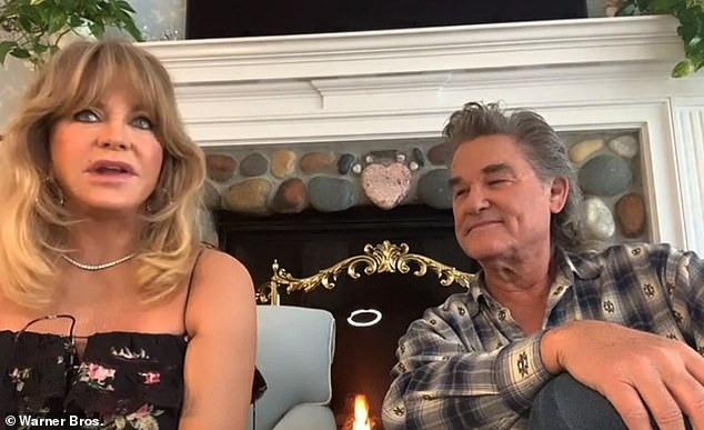 Love story: The actress, who just celebrated her 75th birthday, also shared memories of the early days of her relationship with Kurt, 69, whom she met on the set of Swing Shift in 1983