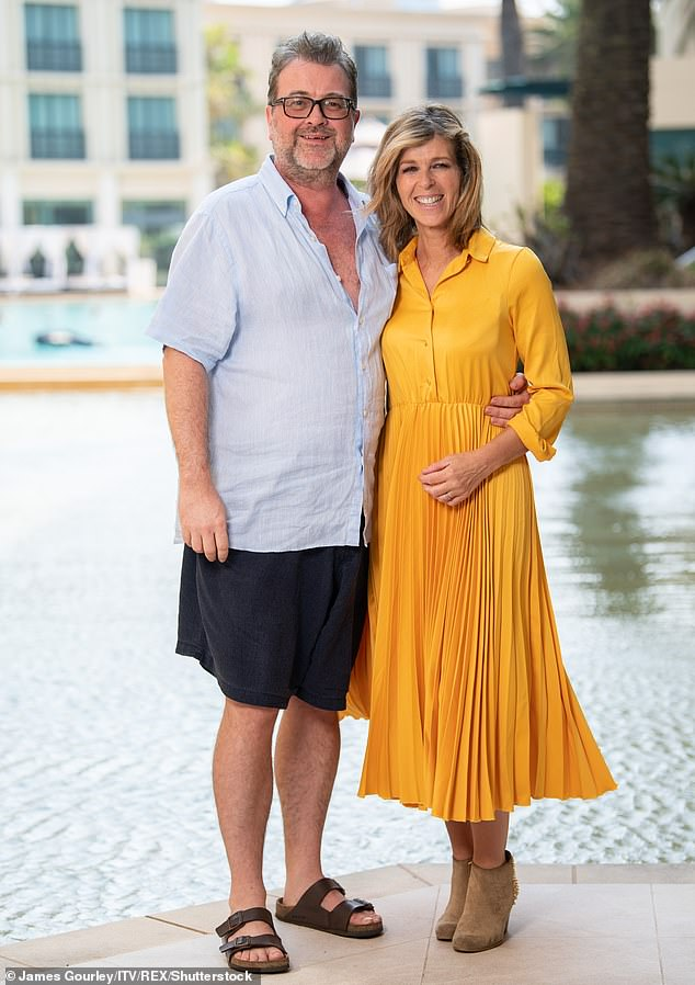 Scary:The presenter told MailOnline he realised 'nothing else matters' when his family are thrown into crisis, as Kate's husband Derek Draper (pictured 2019) recovers from COVID-19