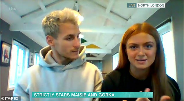 Honest: It comes after Gorka and his dance partner Maisie Smith made an appearance on This Morning, where the actress, 19, claimed her nervousness has been misconstrued