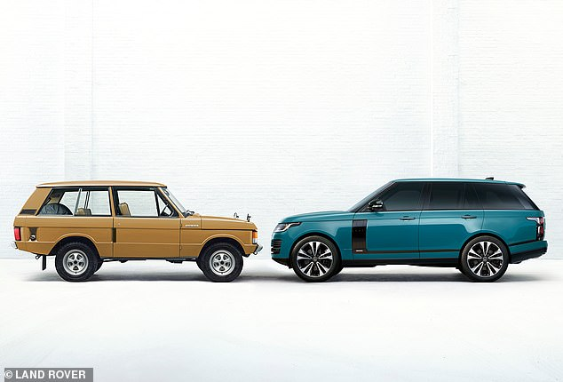 Today's Range Rover (right) is far bigger than the original from the 1970s (left). The 2020 model takes up almost 90% of available bay space, says CarGurus