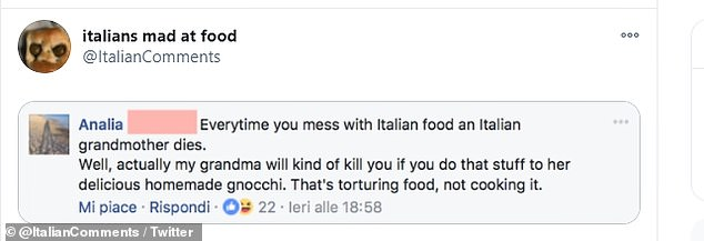Don't mess with food! One Facebook user said everytime you change a recipe an Italian grandma dies