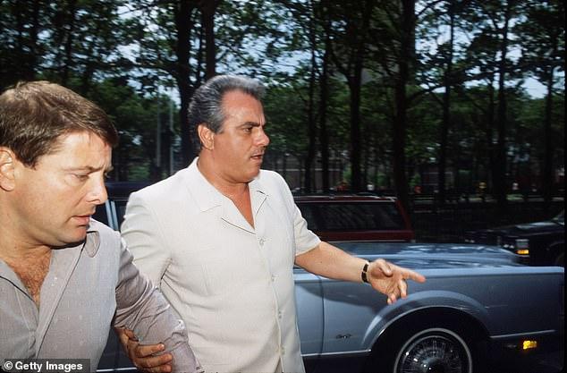 """Schiff compared Trump to a mob boss.This undated file photo shows Mafia Boss John Gotti, aka """"The Dapper Don,"""" right, with Sammy """"The Bull"""" Gravano"""