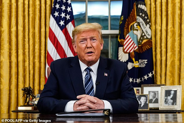 Trump on March 11, implementing the travel ban which brought international business to a complete standstill and crippled the airline industry. European countries quickly reciprocated