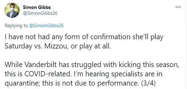Despite the challenges on special teams, Mason's consideration of Fuller reportedly resulted from several Commodores players being forced to quarantine due to close contacts with people infected with COVID-19, according to the Vanderbilt Hustler's Simon Gibbs