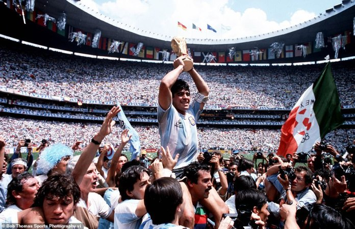 Maradona was one of the most gifted sportsmen of all time, even though in England he has been vilified for his 'Hand of God' goal against Bobby Robson's side in Mexico in 1986