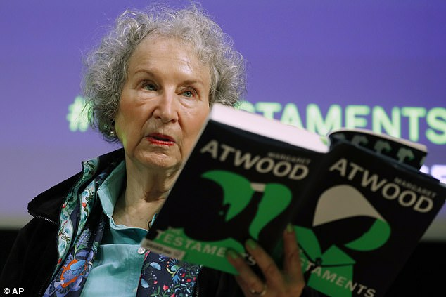 The Handmaid's Tale author Margaret Atwood, pictured at a reading of 'The Testaments', has warned to 'be prepared' for a world that's 'fertile for dictators'