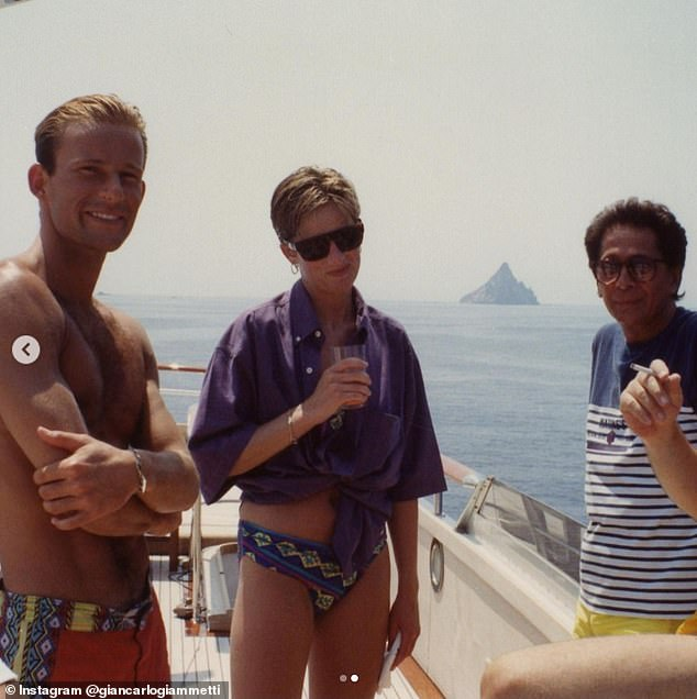 Princess Diana looks radiant on board a yacht in Italy with Prince Kyril of Preslav in never-before-seen photos shared by Valentino co-founder Giancarlo Giammetti