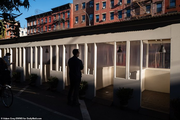 NYC: One restaurant in East Village built a unique outdoor dining space with individual rooms