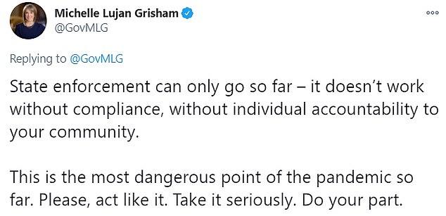 Grisham warned that law enforcement can only go so far