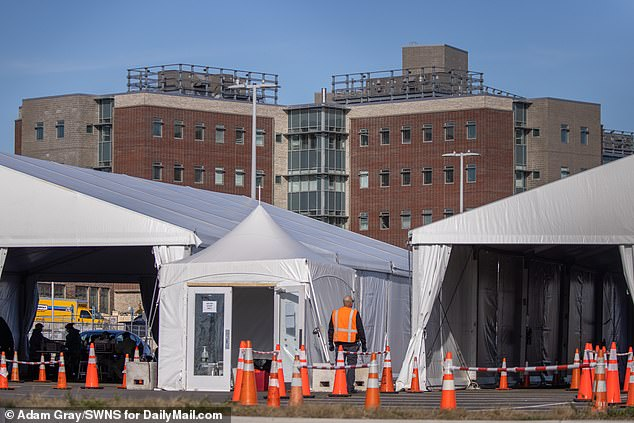 Staten Island's field hospital opened this week. Staten Island has a worse test positivity rate than anywhere else on the