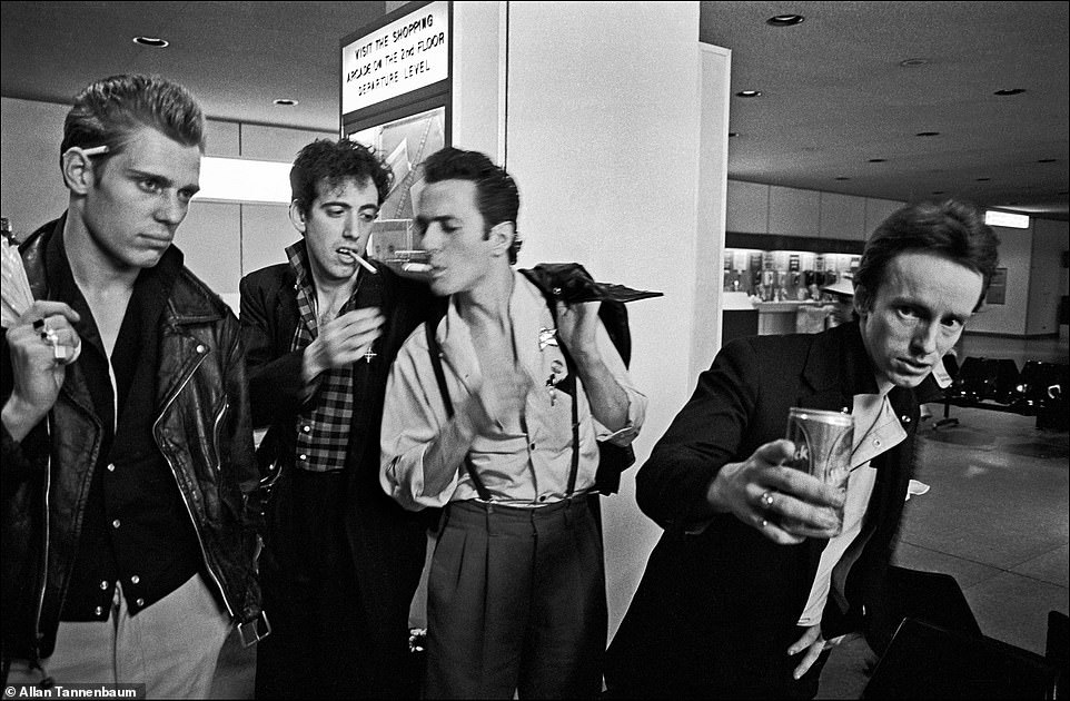 While the beginnings of punk were in New York City in the 1970s, the rebellious musical genre and subculture spread to other cities in the United States, Europe and around the world. Bands like the Clash and the Sex Pistols were essential to help ignite the scene in London. The Clash formed in 1976 and their eponymous debut was released in the United Kingdom the next year. Bands, such as the Ramones and the Clash, played in both New York City and London. Above, The Clash arriving at JFK Airport, NYC, 1981. From left,Paul Simonon, Mick Jones, Joe Strummer and Topper Headon