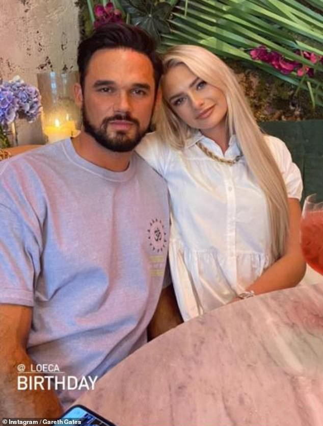 Cute couple: Gareth also gushed about his romance with DJ Chloe McLennan after they moved in together when lockdown hit in March