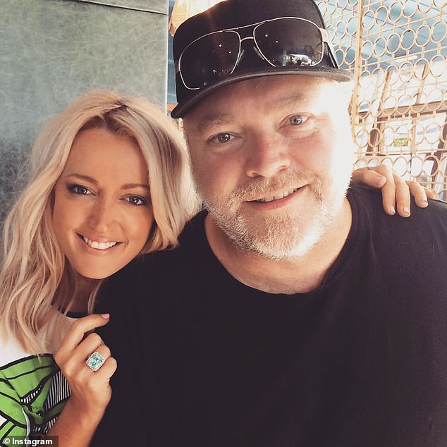 Delayed gratification:She told co-host Kyle Sandilands (left) and newsreader Brooklyn Ross she doesn't begin the act of 'self-love' until after she's switched off the video