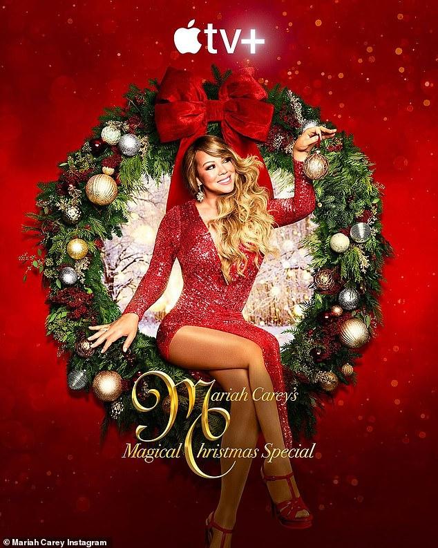 Especial mágico: la cantante de 50 años tiene su propio especial de Navidad mágico de Mariah Carey, repleto de estrellas, el 4 de diciembre en Apple TV +.