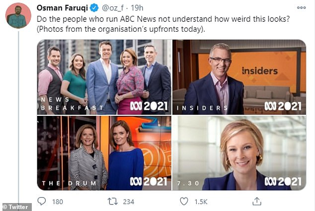 'It's disappointing': Many viewers have criticised the broadcaster for failing to cast someone racially diverse, claiming it's 'disappointing' and doesn't reflect Australian communities