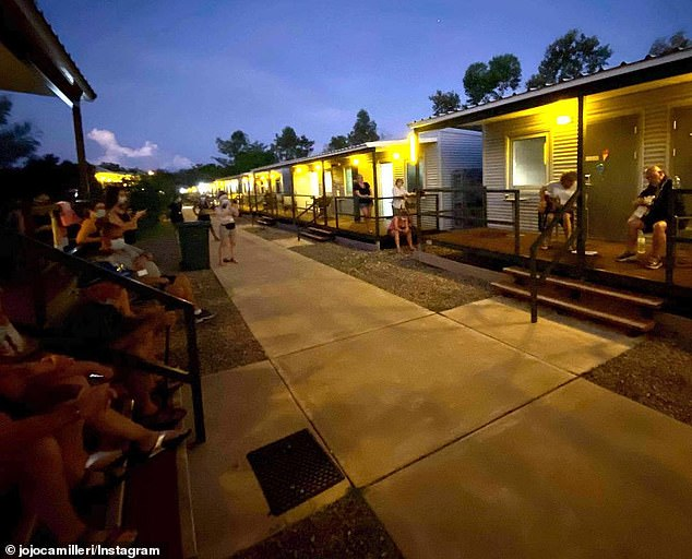Some Australians are being flow from London and India to the Howard Springs quarantine facility (pictured) near Darwin as expats return home