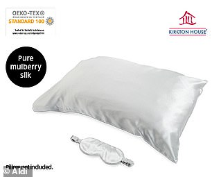 Silk pillowcase and eye mask sets will be up for grabs for $39.99