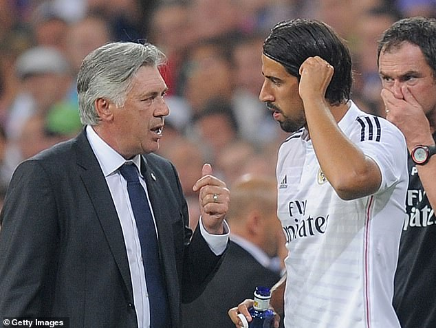 Ancelotti and Khedira worked together during their time at Spanish club Real Madrid