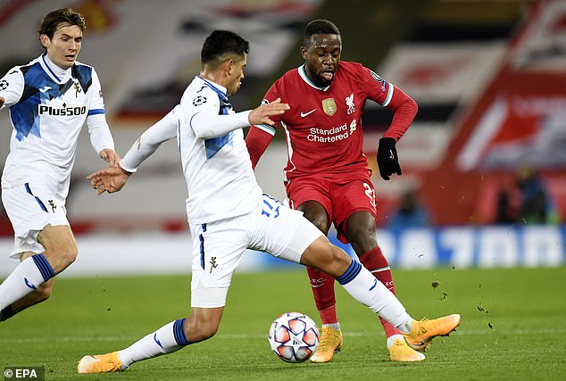 Klopp rotated his side for Atalanta with Divock Origi handed a rare start in Liverpool's attack