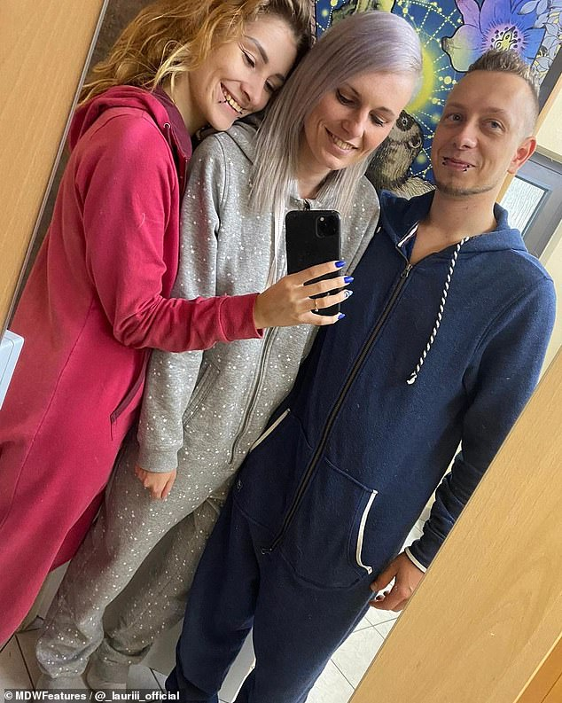Slumber party! The throuple have plans to start a family following Larissa and Patrick's 2021 wedding