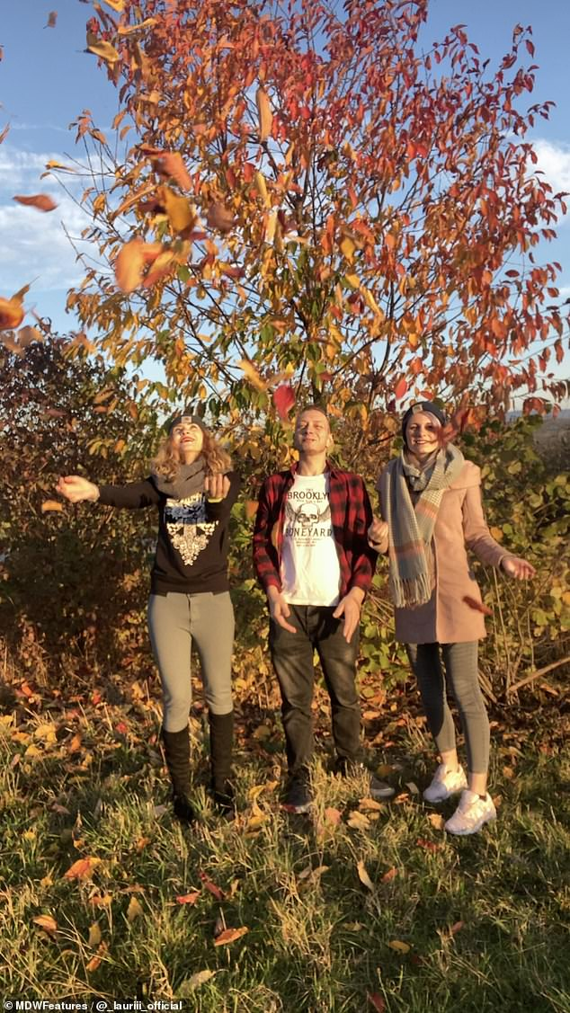 They are never leaf-ing! The throuple have been targeted by trolls online but said they did not care