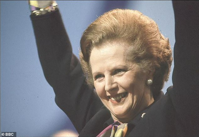 Margaret Thatcher takes applause in 1982, the year of the Falklands War - a conflict which made the England v Argentina match four years later a politically charged occasion
