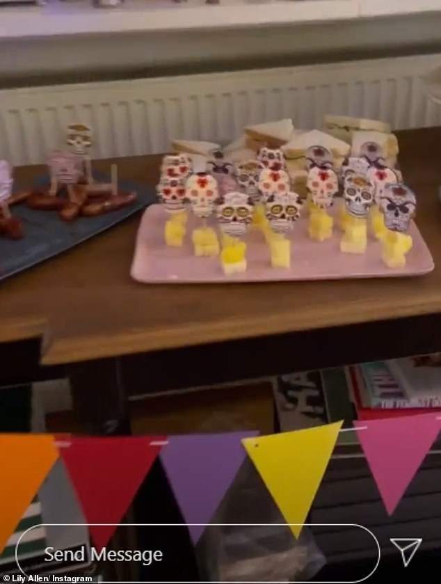 Prepared: Lily also had an array of other finger foods including cheese and sandwiches set out on the table of goodies