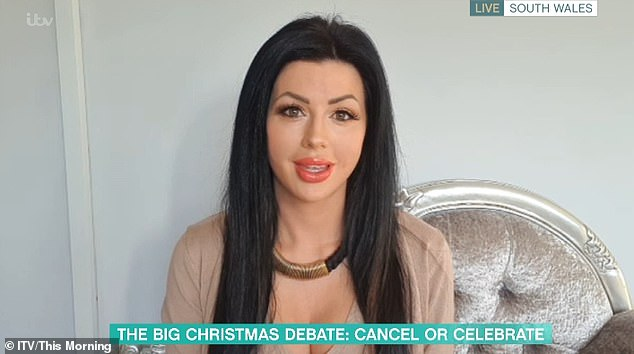 This Morning viewers slammed Lora Evans, 33, from Swansea, who appeared on the programme today to reveal she plans to see her elderly relatives this Christmas