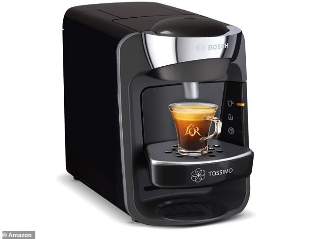 TheTassimo Bosch Suny Coffee Machine has been reduced from £128.99 to £58.94 in the Amazon Black Friday sale