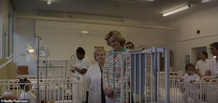 Princess Diana's solo trip to New York was documented in the final episode, where she is seen hugging a young boy who has HIV in a visit to a Harlem hospital