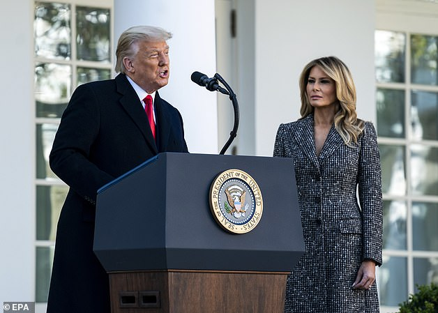President Donald Trump and first lady Melania Trump are spending Thanksgiving at the White House instead of traveling to Mar-a-Lago, where they'll have dinner with immediate family