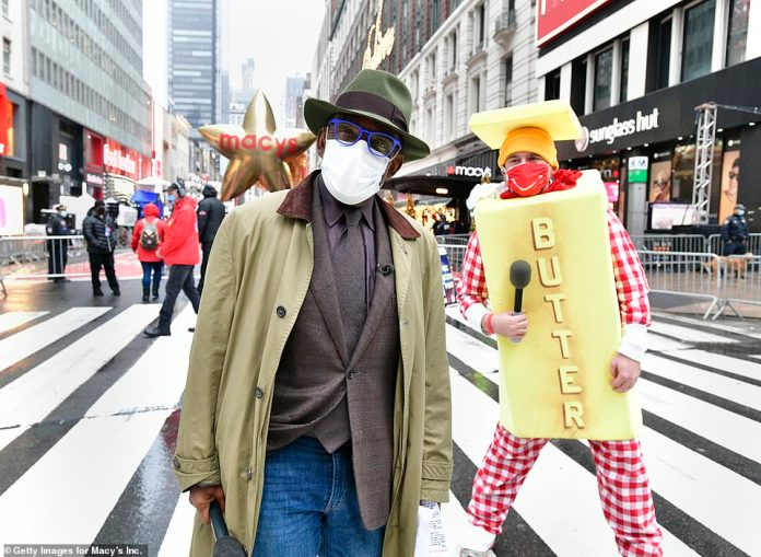 Al Roker and Butter Man at the 94th parade after they became a viral moment in previous parades