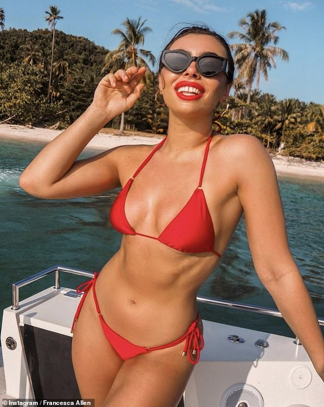 Ridiculous: Francesca recently claimed that although going on ITV2 dating show Love Island boosted her profile in the fashion industry it has actually hindered her chances of finding love